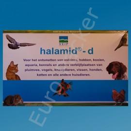 Halamid-d 50 gr ontsmetting van volières, hokken, kooien, aquaria, kennels etc